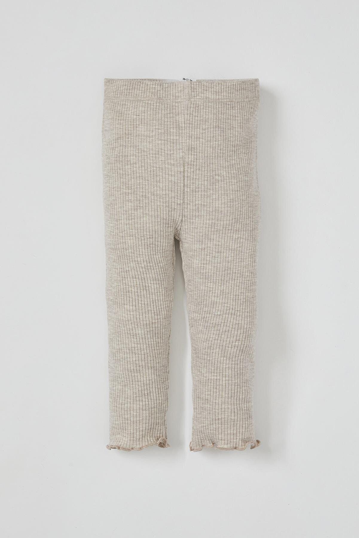 Defacto Kız Bebek Basic Fitilli Uzun Tayt