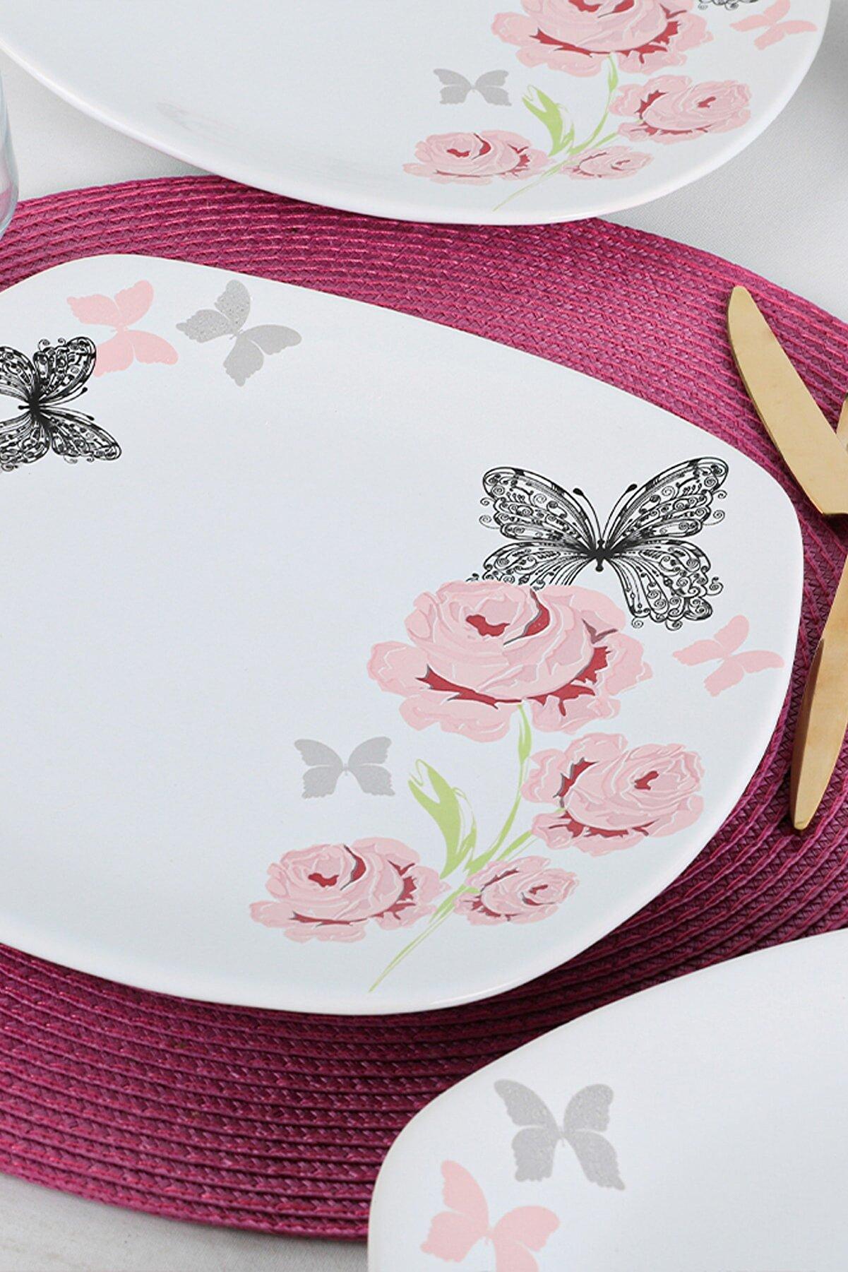Keramika Gül Trend Servis Tabağı 27 Cm 6 Adet