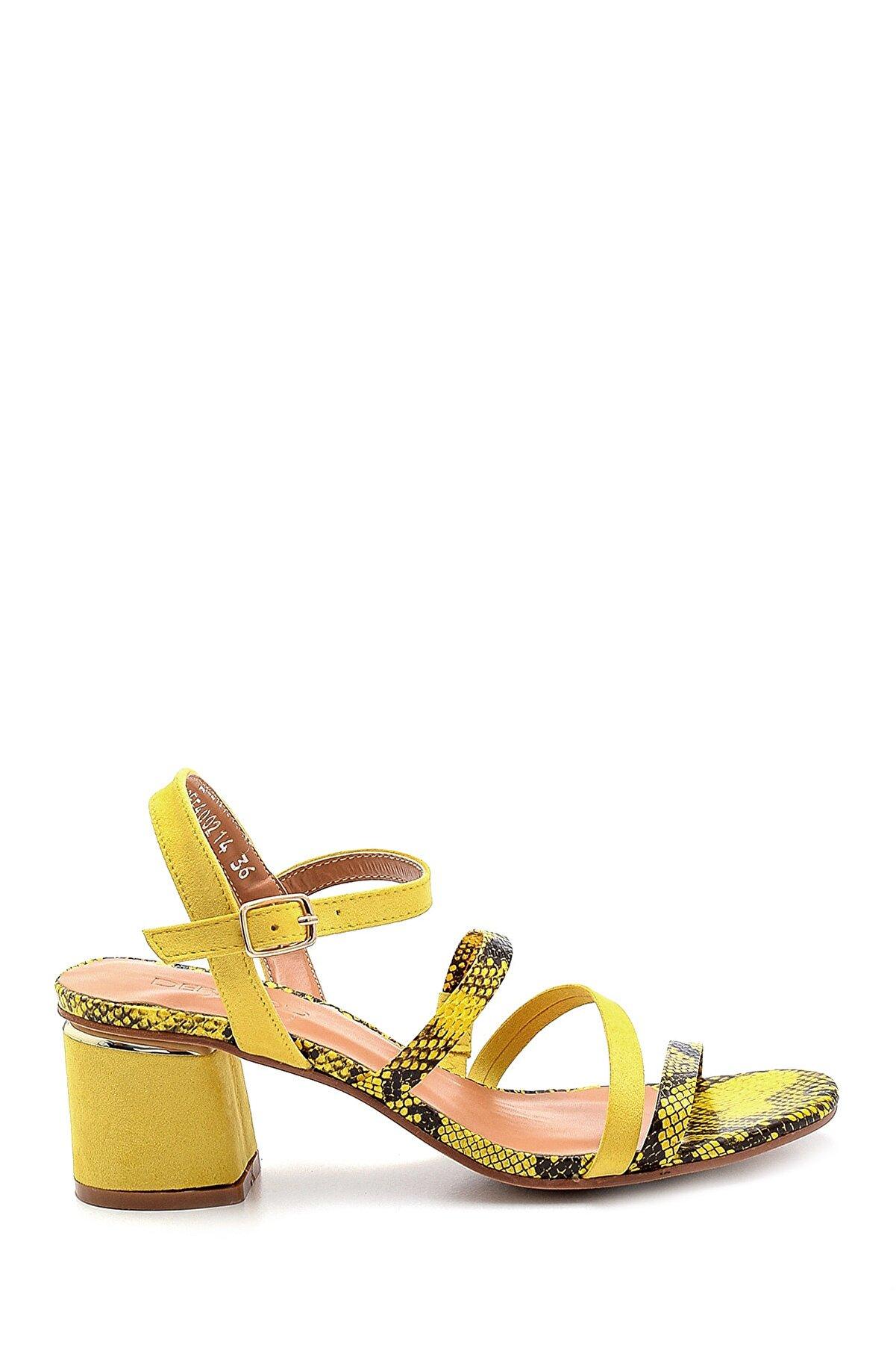 Derimod Kadın Sarı Topuklu Sandalet