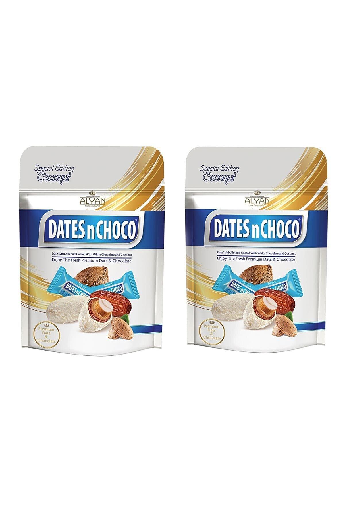 DATESnCHOCO Dates N Choco Hindistan Cevizi ve Beyaz Çikolata Kaplı Hurma 90gr + 90gr