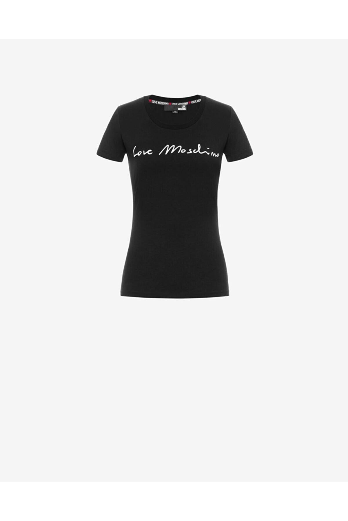 Moschino Kadın Siyah T-Shirt  t-w 4 H19 01