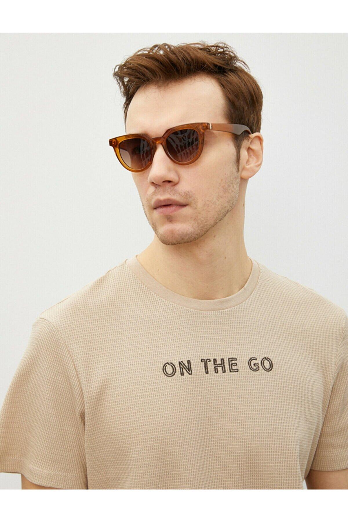 Koton Erkek Ekru T-Shirt