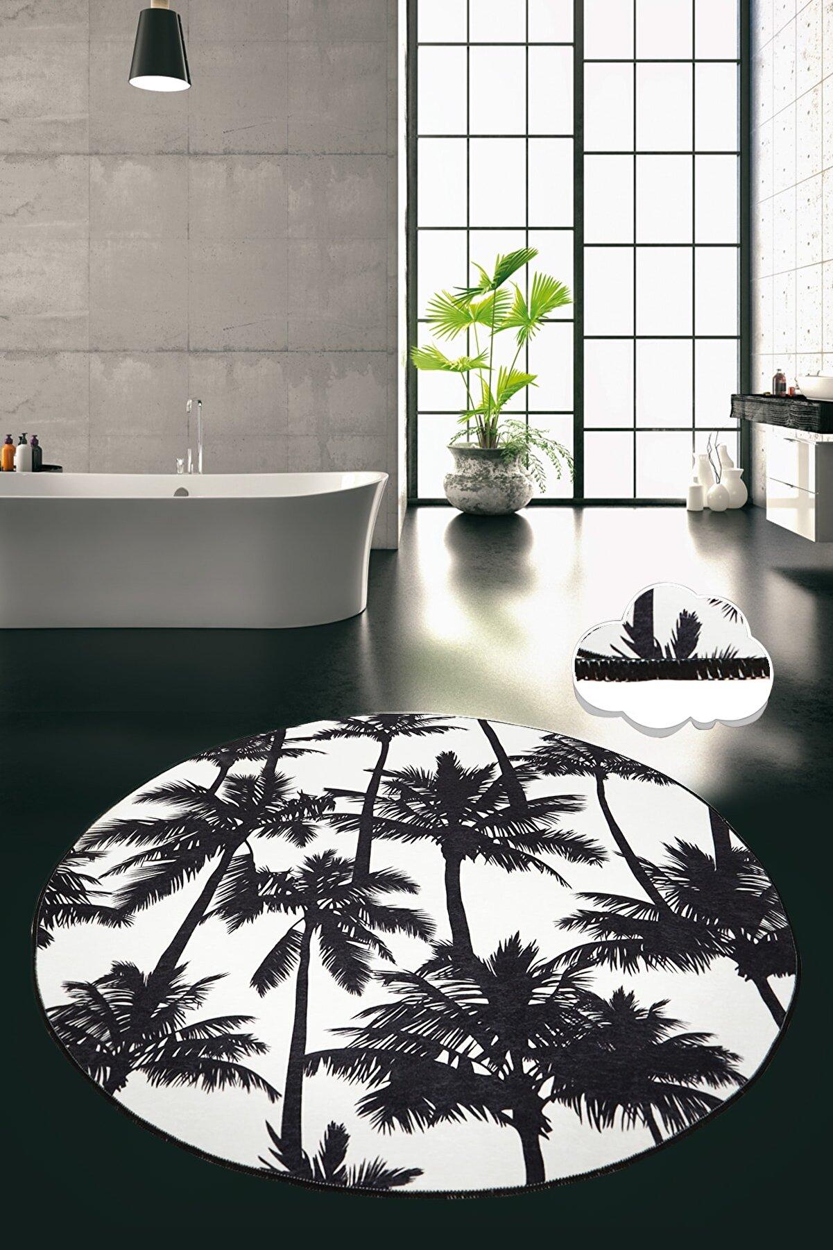 Chilai Home PALM DJT ÇAP 100 cm Banyo Halısı