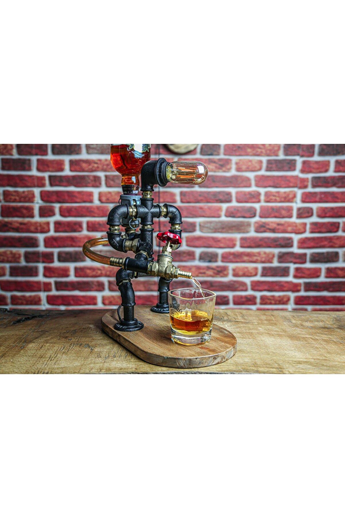 Atölye Rustik Itfaiyeci Tasarım Viski Rakı Çeşmesi