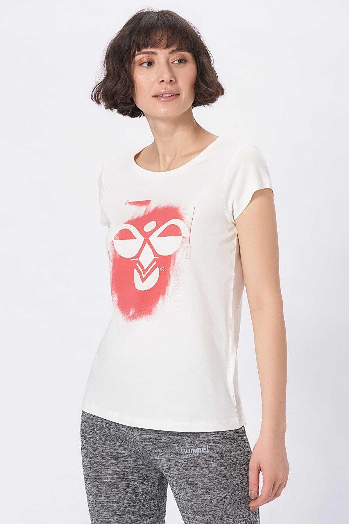 HUMMEL Kadın Beyaz T-Shirt Hmlsadie Ss Tee
