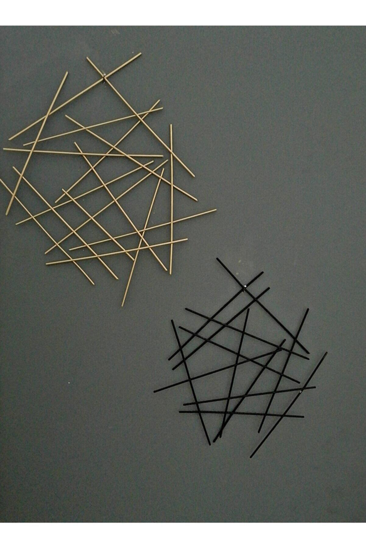 LALEZEN Metal Gold - Siyah Dekorasyon Ölçüler (24 cm*29cm) (30cm*35cm) Duvar Süsü Aksesuarı