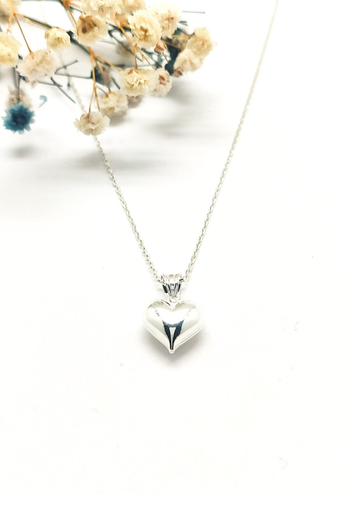 MAGNAMİNA Kalp Figürlü Gümüş Kolye