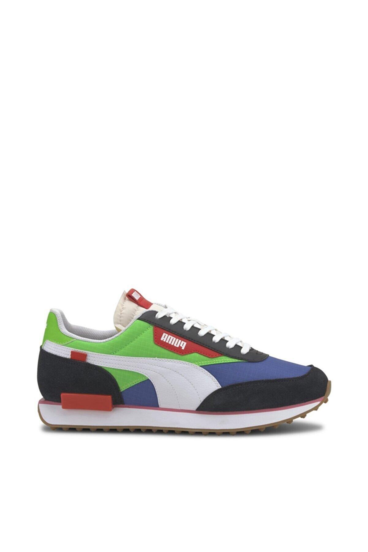 Puma Erkek Mavi Yeşil Sneaker Future Rider Play On 371149-01