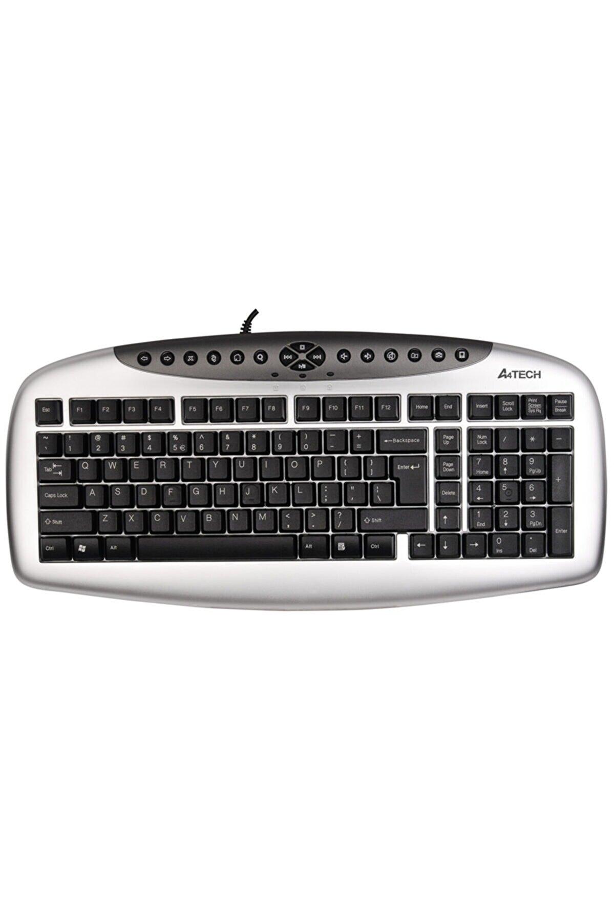 A4 Tech Kb21 Kablolu Ps/2 Q Klavye,gümüş-siyah