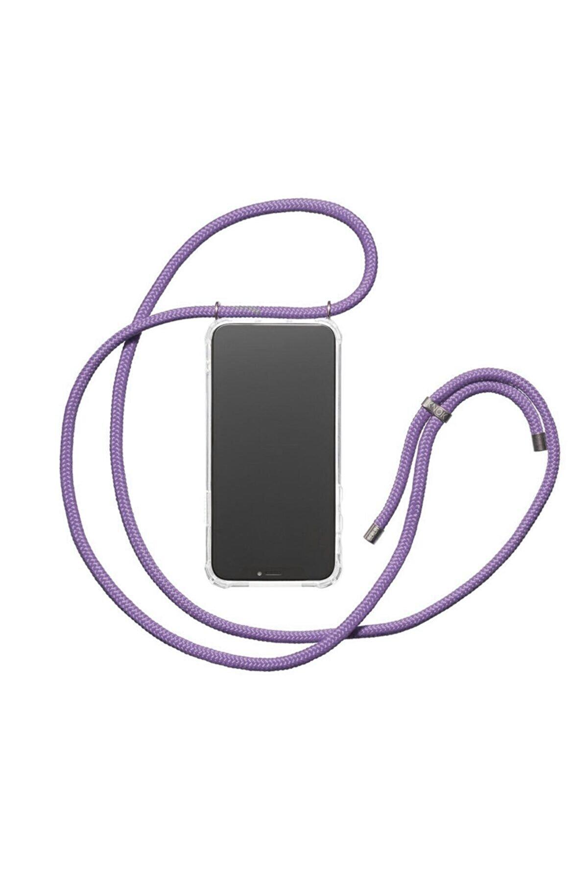 Teknoçeri Iphone 6 / 6s Uyumlu Şeffaf Boyun Askılı Ipli Kılıf