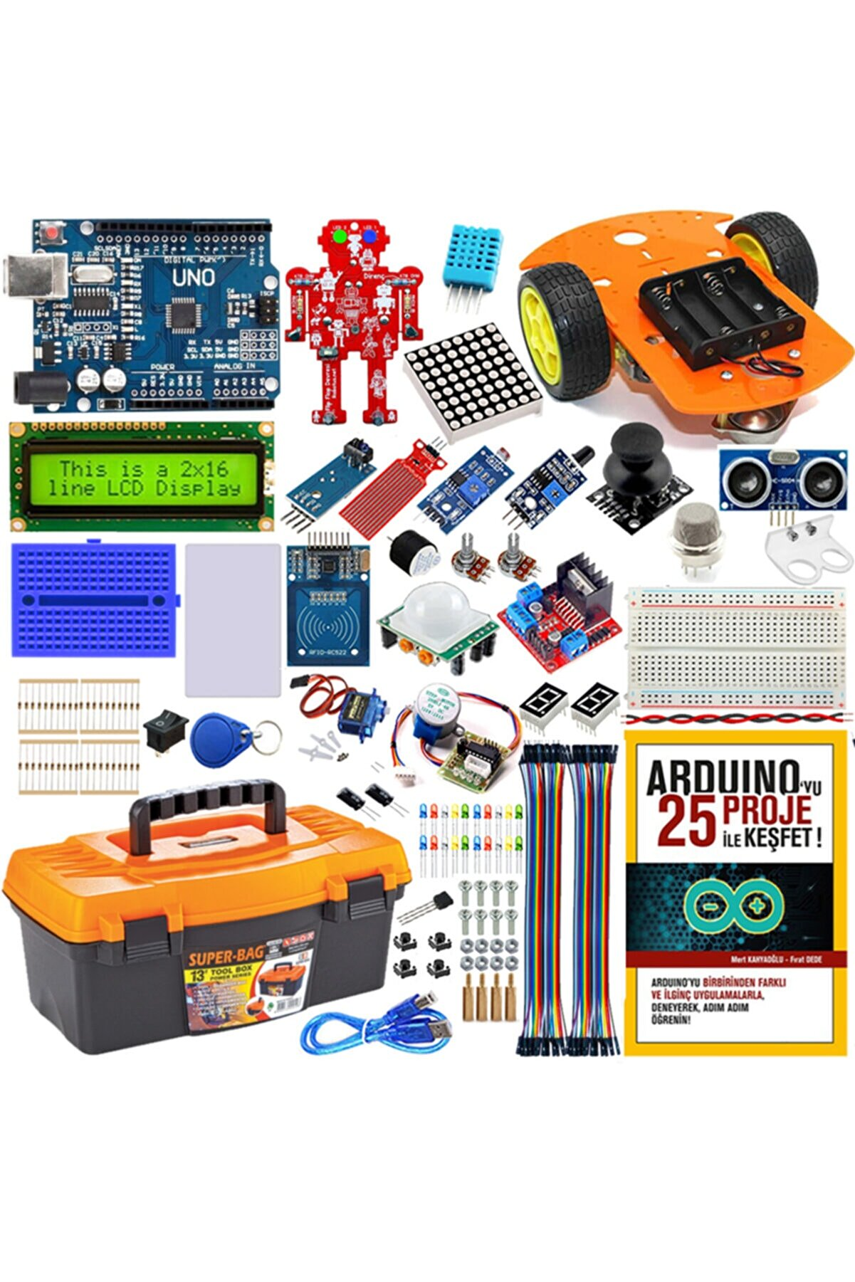 Arduino Uno Maker Eğitim Seti - Online Eğitime Uygun