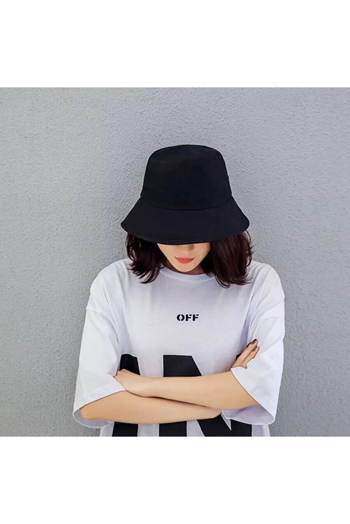 Orçun Özkarlıklı Kadın Siyah Kova Şapka