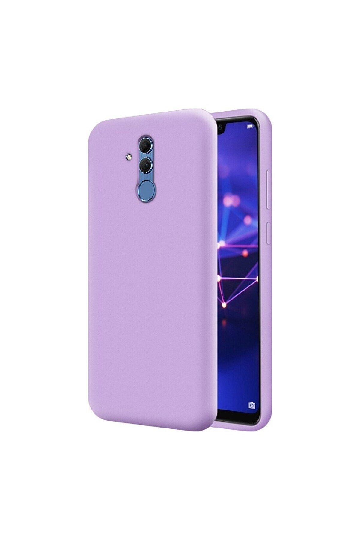 Mopal Huawei Mate 20 Lite Uyumlu Lila Içi Kadife Lansman Silikon Kılıf