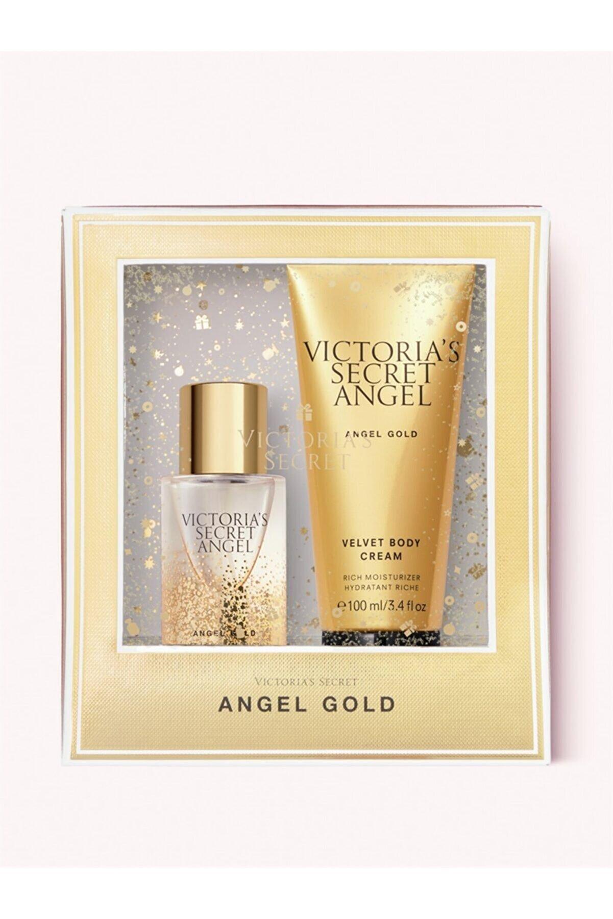 Victoria's Secret New Collection Angel Gold Sevgiler Gününe Özel Hediye Seti 2'li