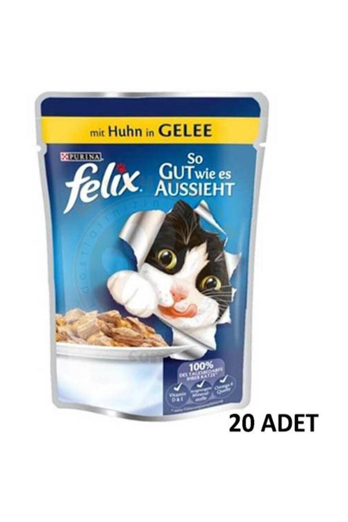 FELİX Pouch Tavuk Etli Yaş Kedi Maması 100 gr X 20 Adet