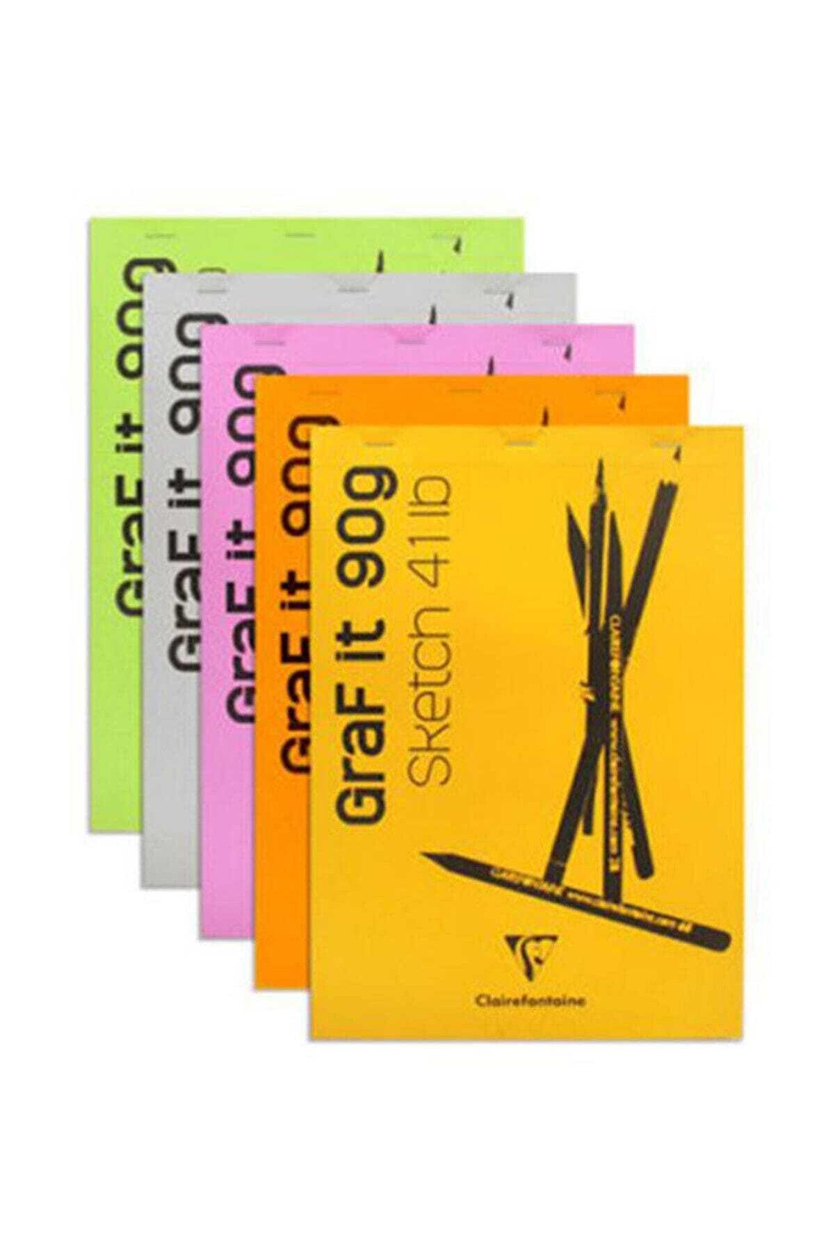 Clairefontaine Graf it Beyaz Çizim Blok 90 gr. 80 yp. A4