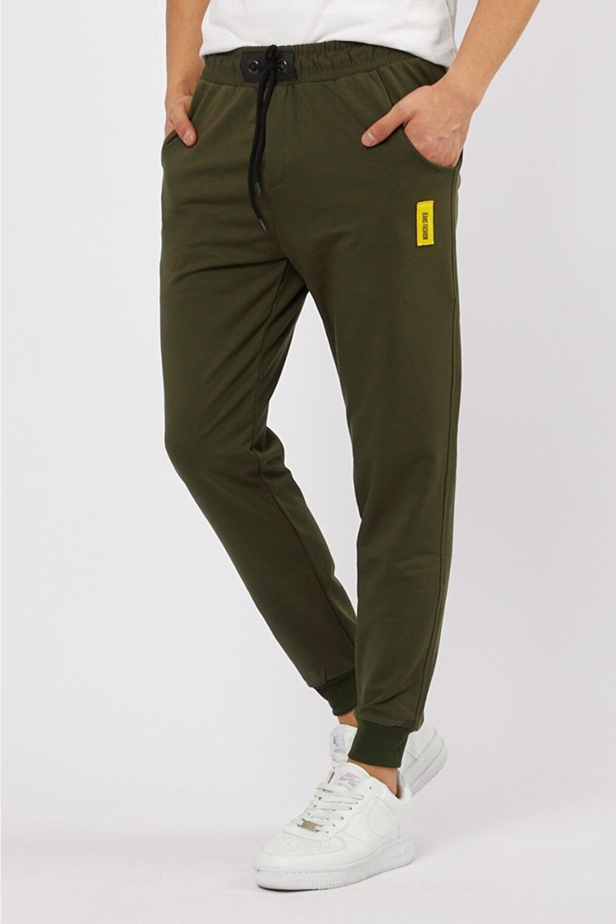 MaesSE Erkek haki jeans fashion günlük eşofman altı