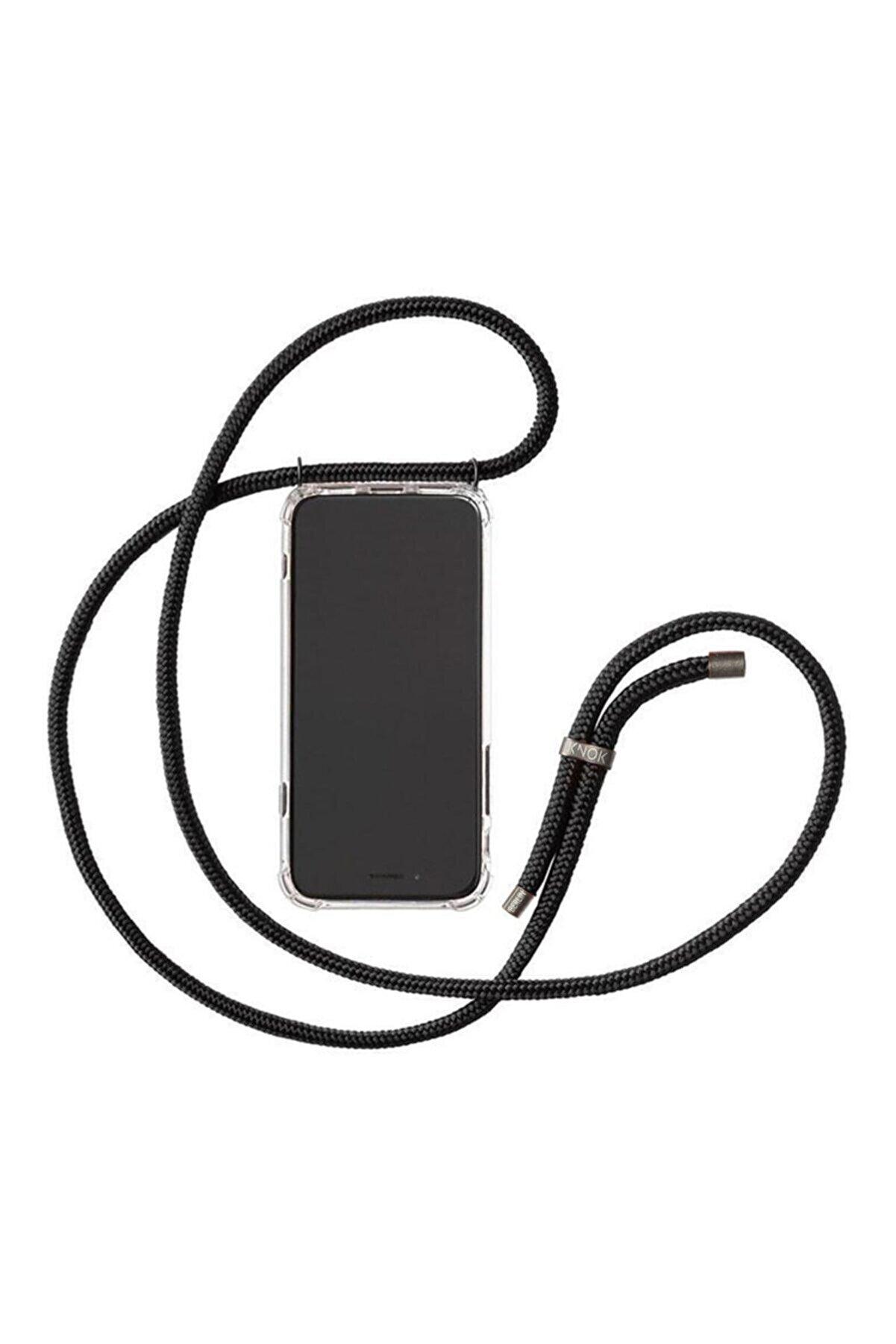"""Teknoçeri Iphone 11 6.1""""Uyumlu Şeffaf Boyun Askılı Ipli Kılıf"""
