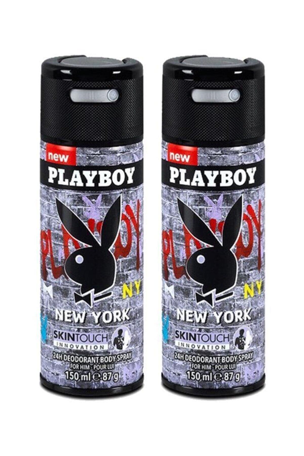 Playboy New York Deodorant For Man 150 Ml X2