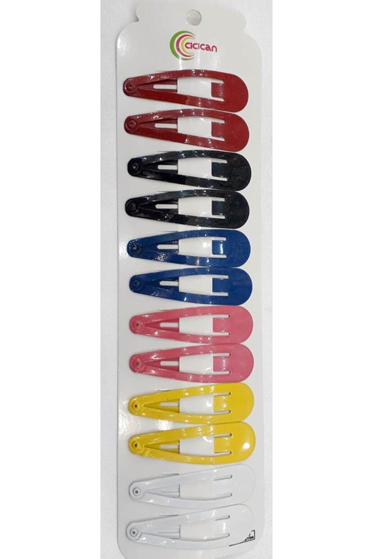 cicican Çıtçıt Toka Renkli 7 Cm 12li Paket