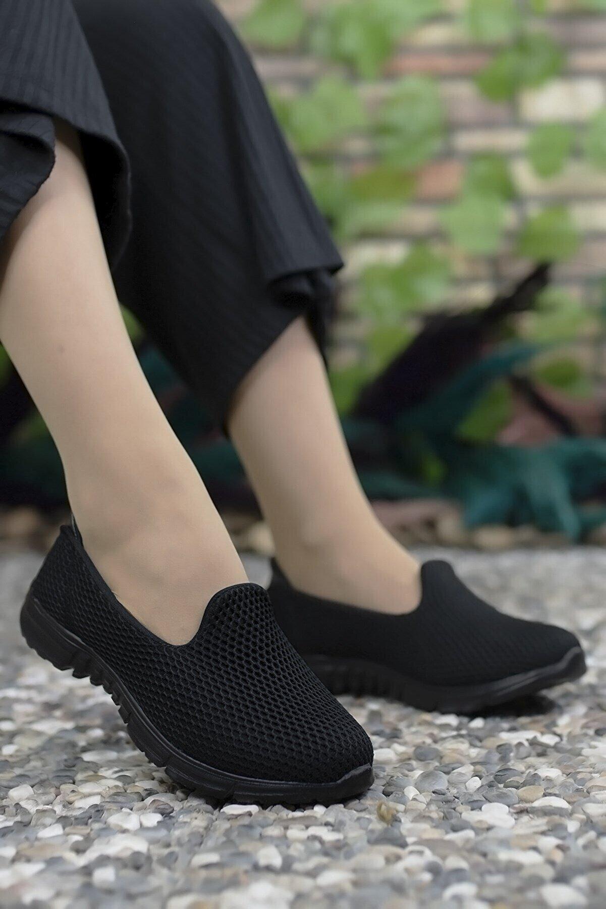 Riccon Kadın  Siyah Siyah Sneaker 0012901