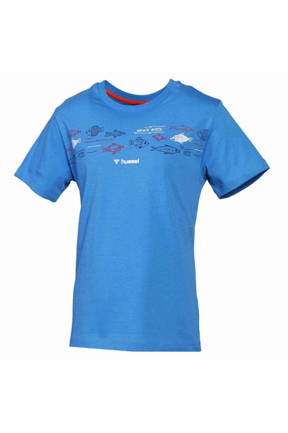 HUMMEL HMLSAILOR Mavi Erkek Çocuk T-Shirt 101085859