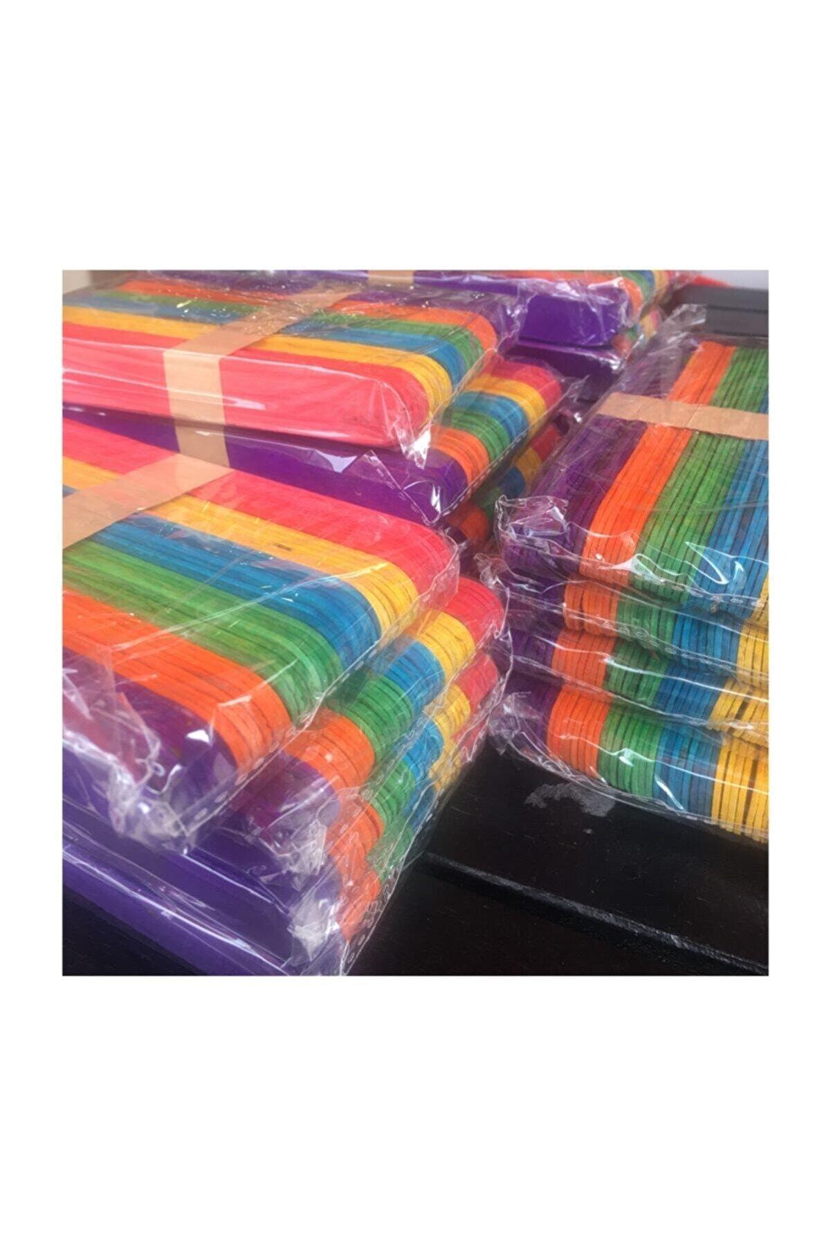 Zirve Renkli Ahşap Dil Çubuğu Abeslang Büyük Geniş 50li Çx