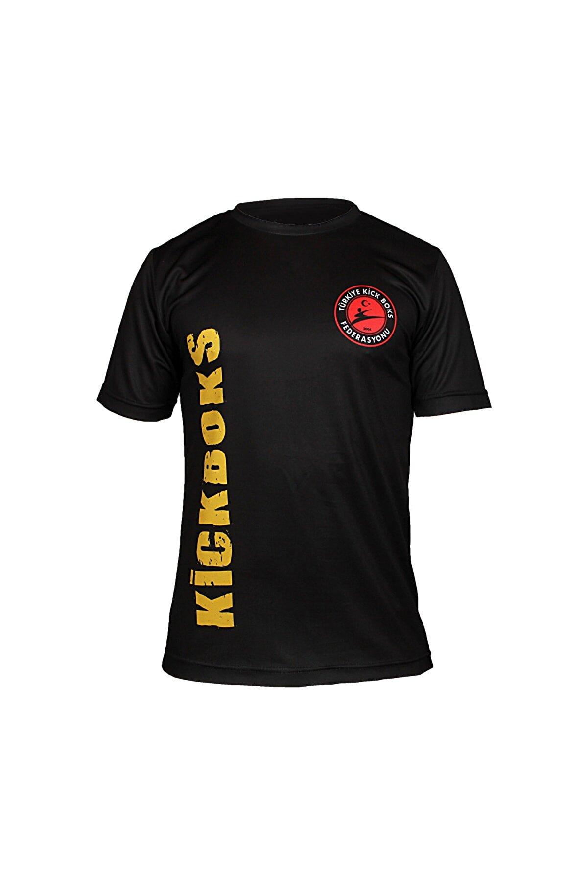 DO-SMAI Kick Boks Dijital Baskılı T-shirt Kb010 Siyah