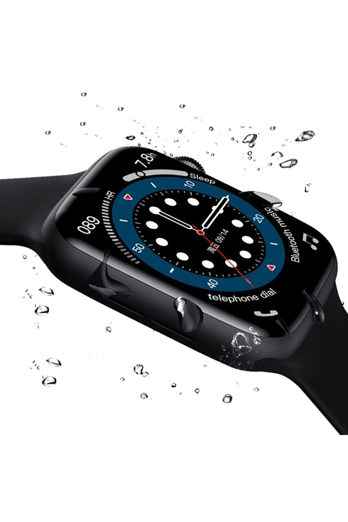 RUKUSHE Watch 6 Plus Bluetooth Akıllı Saat Suya Dayanıklı Ateş Ve Nabız Ölçer Yan Tuş Aktif Android Ve Ios