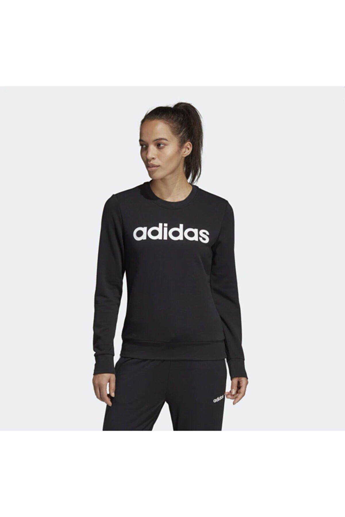 adidas W E LIN SWEAT' Siyah Kadın Sweatshirt 100479658