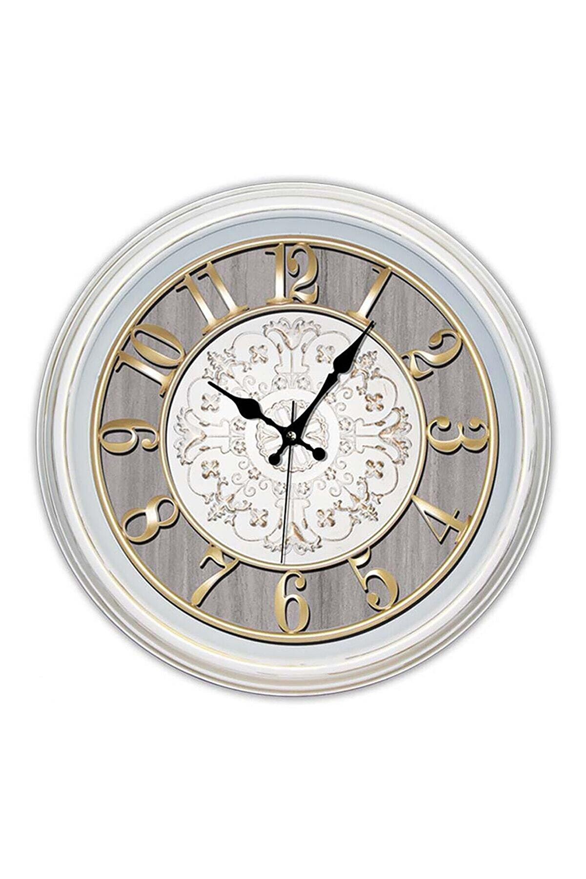 Time Gold Dekoratif Eskitme Tasarım Sessiz Mekanizma Majör Duvar Saati