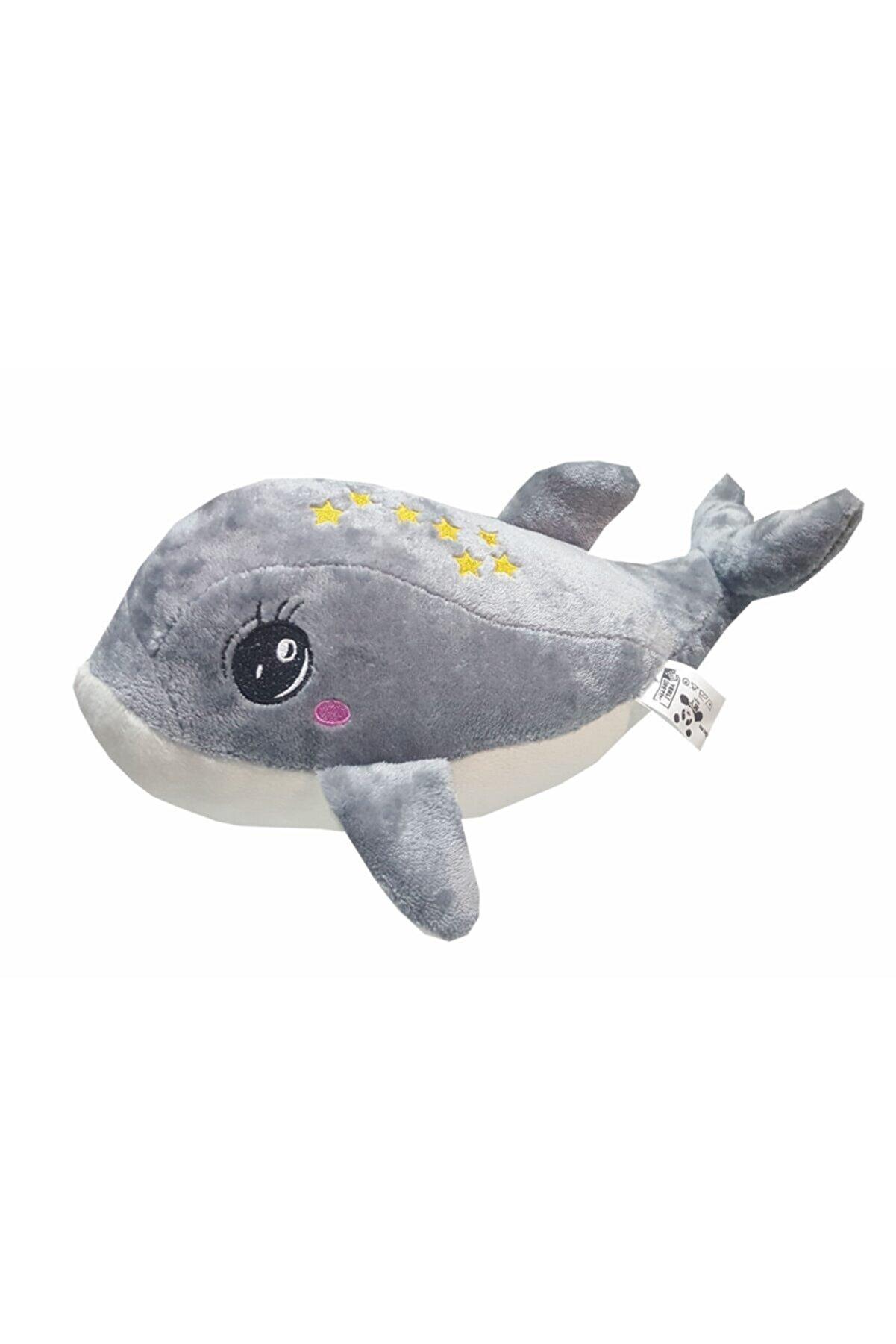 MY toys Uyku Arkadaşım Yumuşak Peluş Yunus Balığı Gri (35 Cm.)