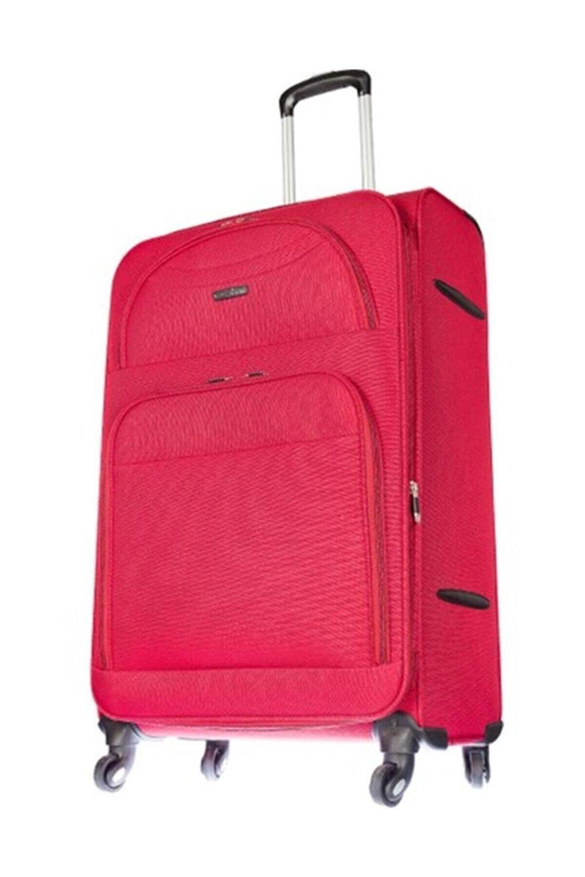 ÇÇS Kumaş Büyük Boy Valiz 409-l Kırmızı