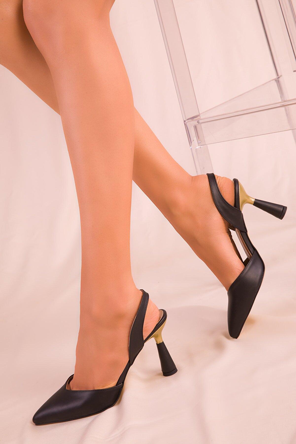 Soho Exclusive Siyah Kadın Klasik Topuklu Ayakkabı 15869
