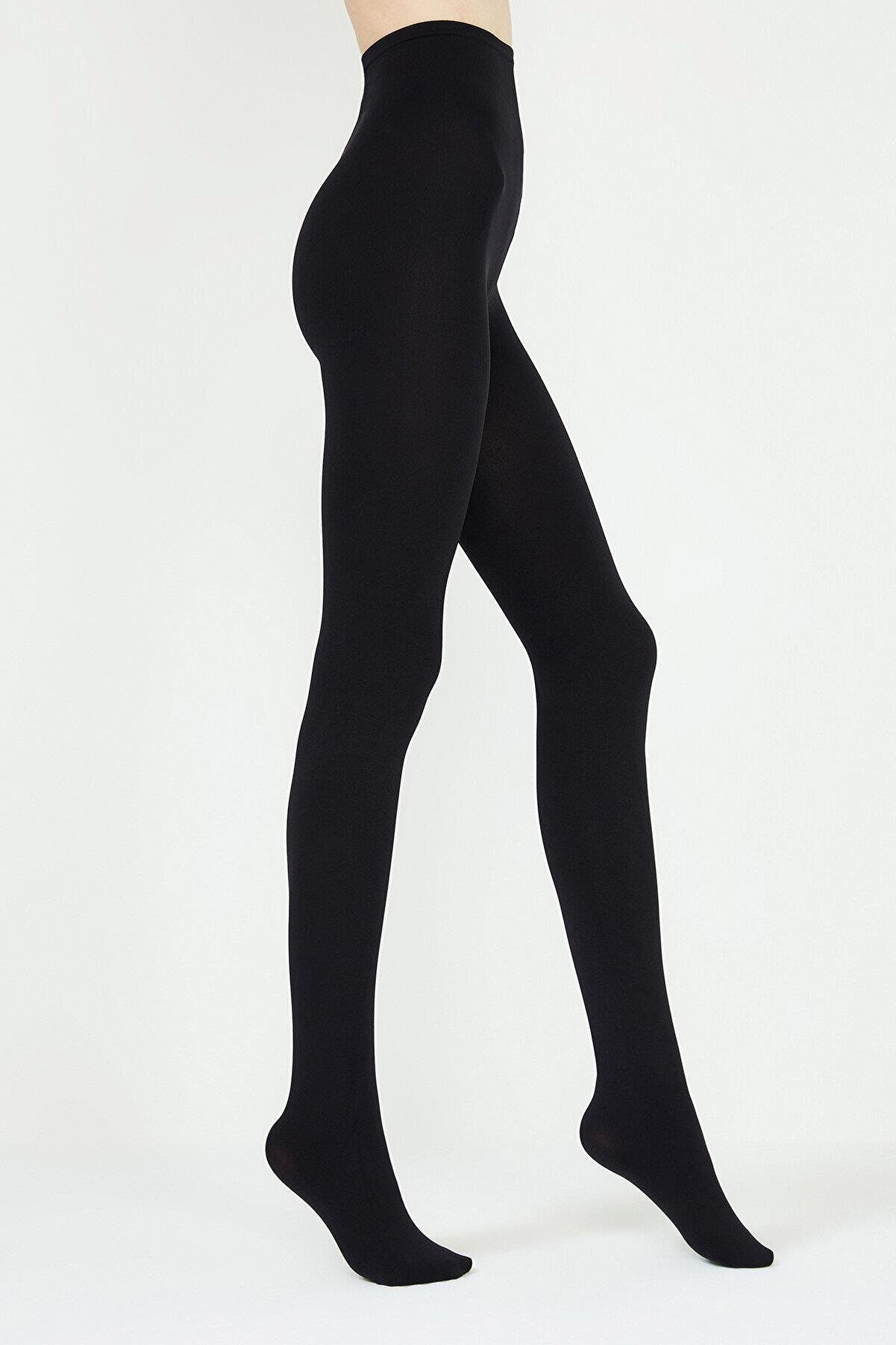 Penti Kadın Siyah Mikro 200 Külotlu Çorap