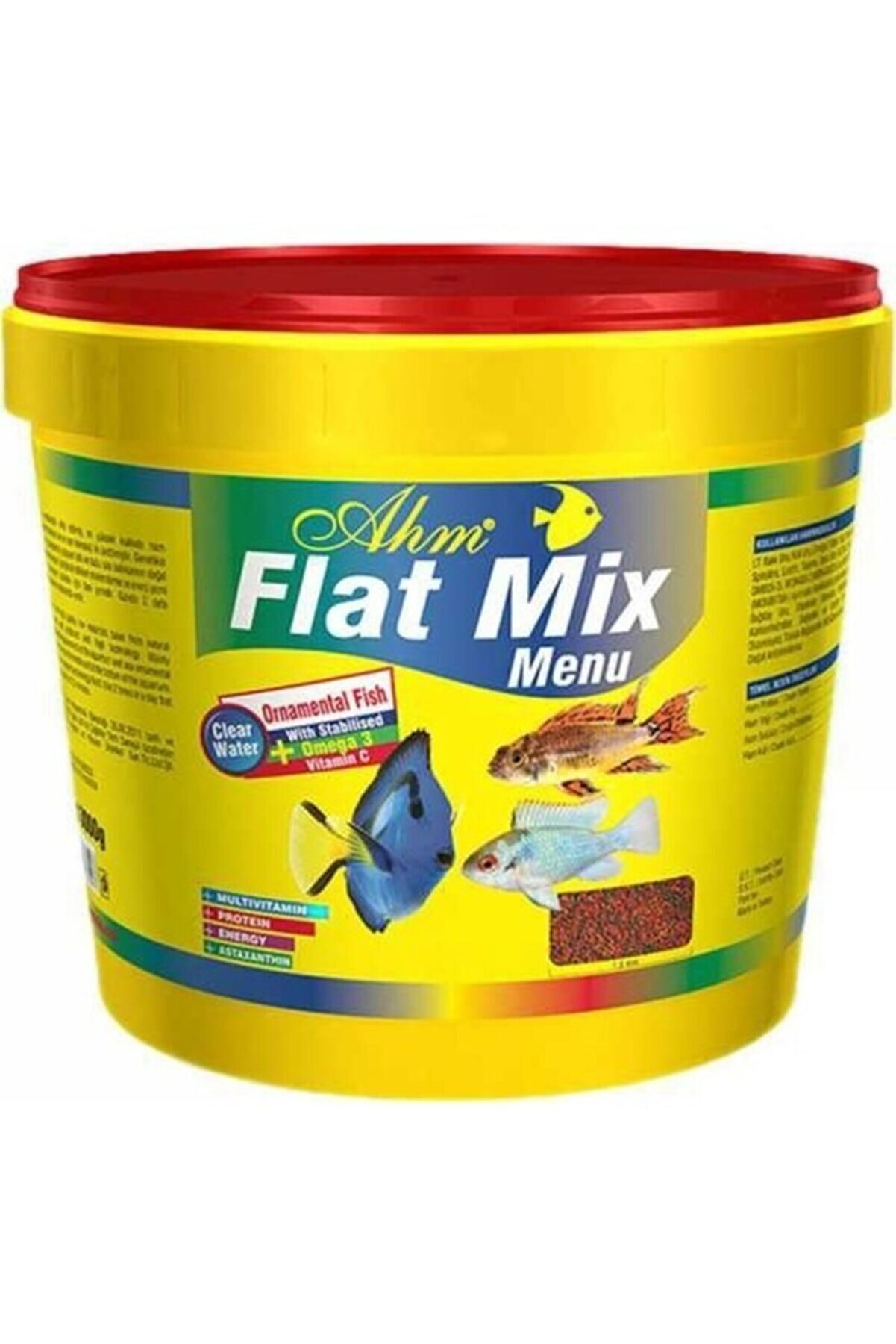 Ahm Flat Mix Menü Granül Renklendirici Balık Yemi Kova 3 Kg