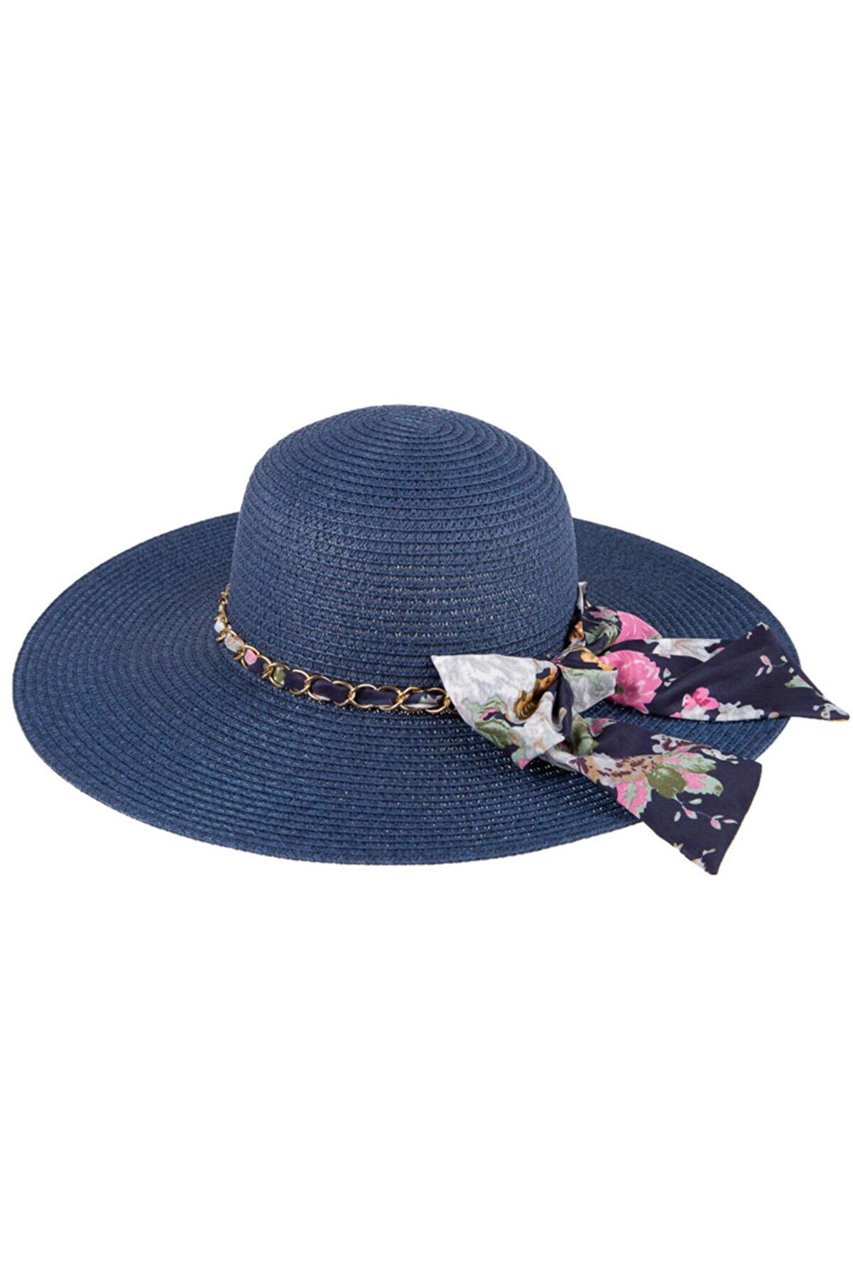 SYT Kadın Lacivert Hasır Şapka