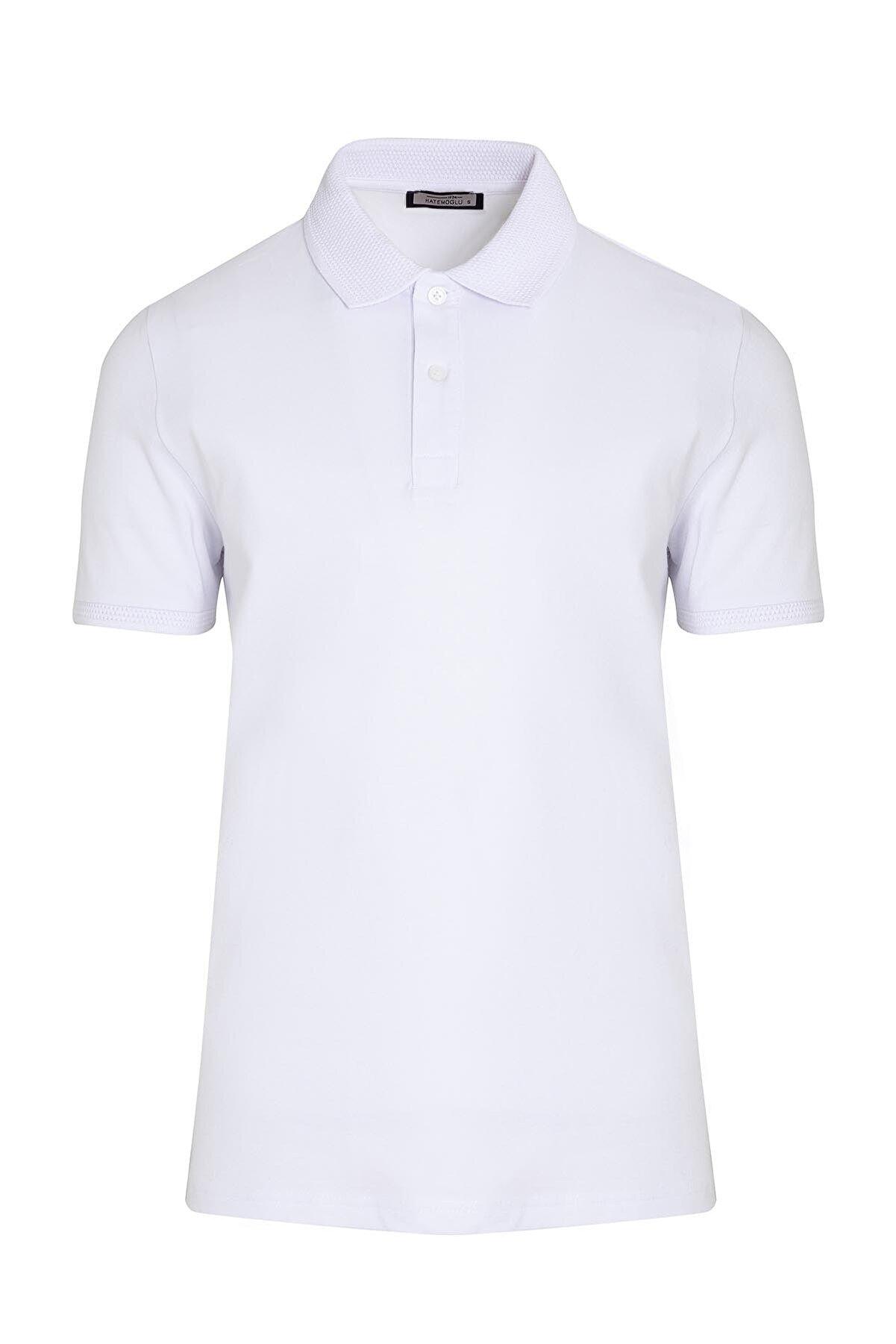 Hatemoğlu Beyaz Polo Yaka Tişört