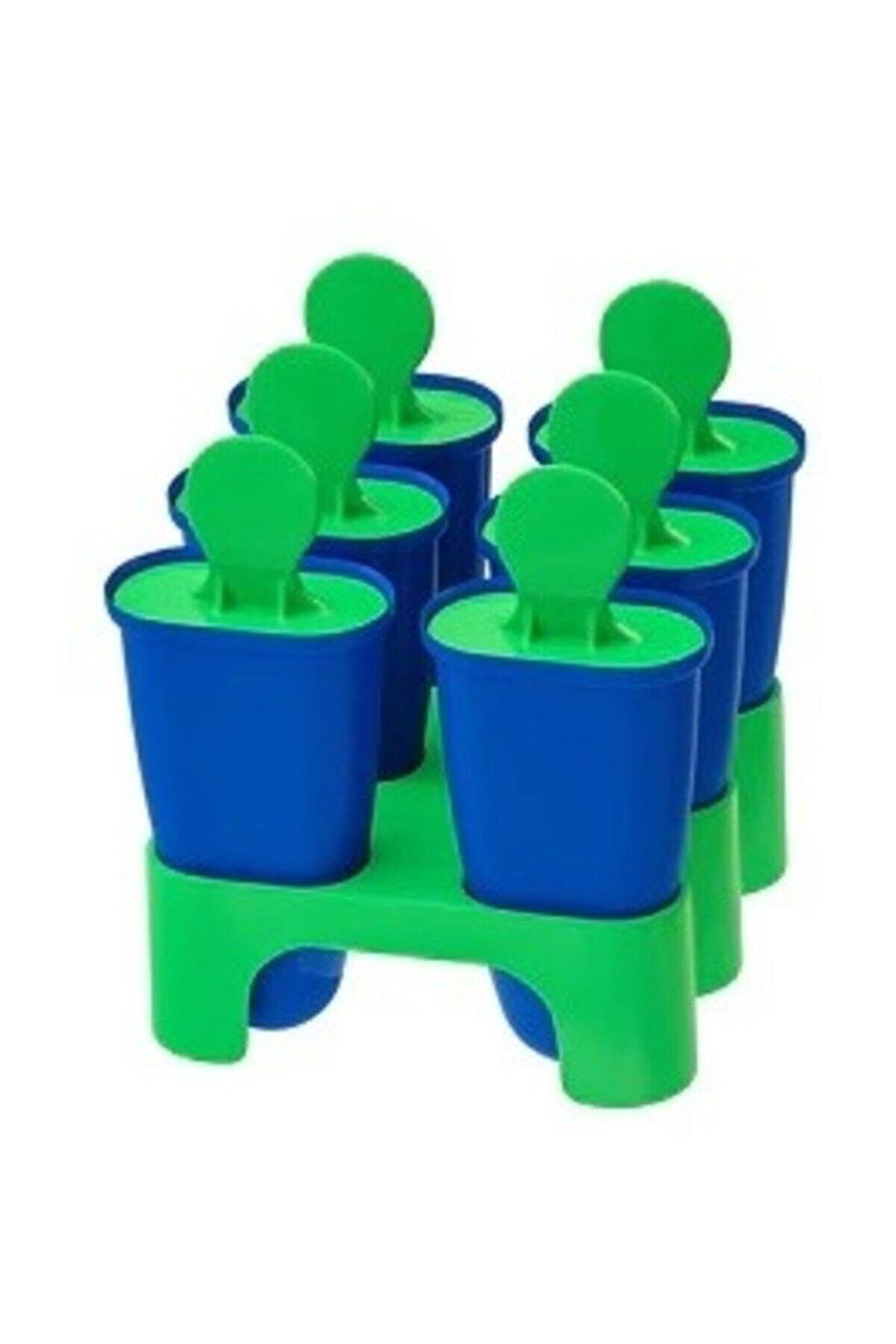 BARBUN Chosıgt Çubuk Dondurma Kalıbı 6'lı Kalıp Set Mavi