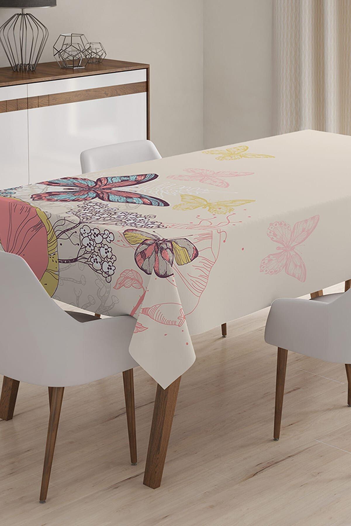 Realhomes Özel Tasarım 3D Dijital Baskılı Masa Örtüsü - 140 x 220 cm
