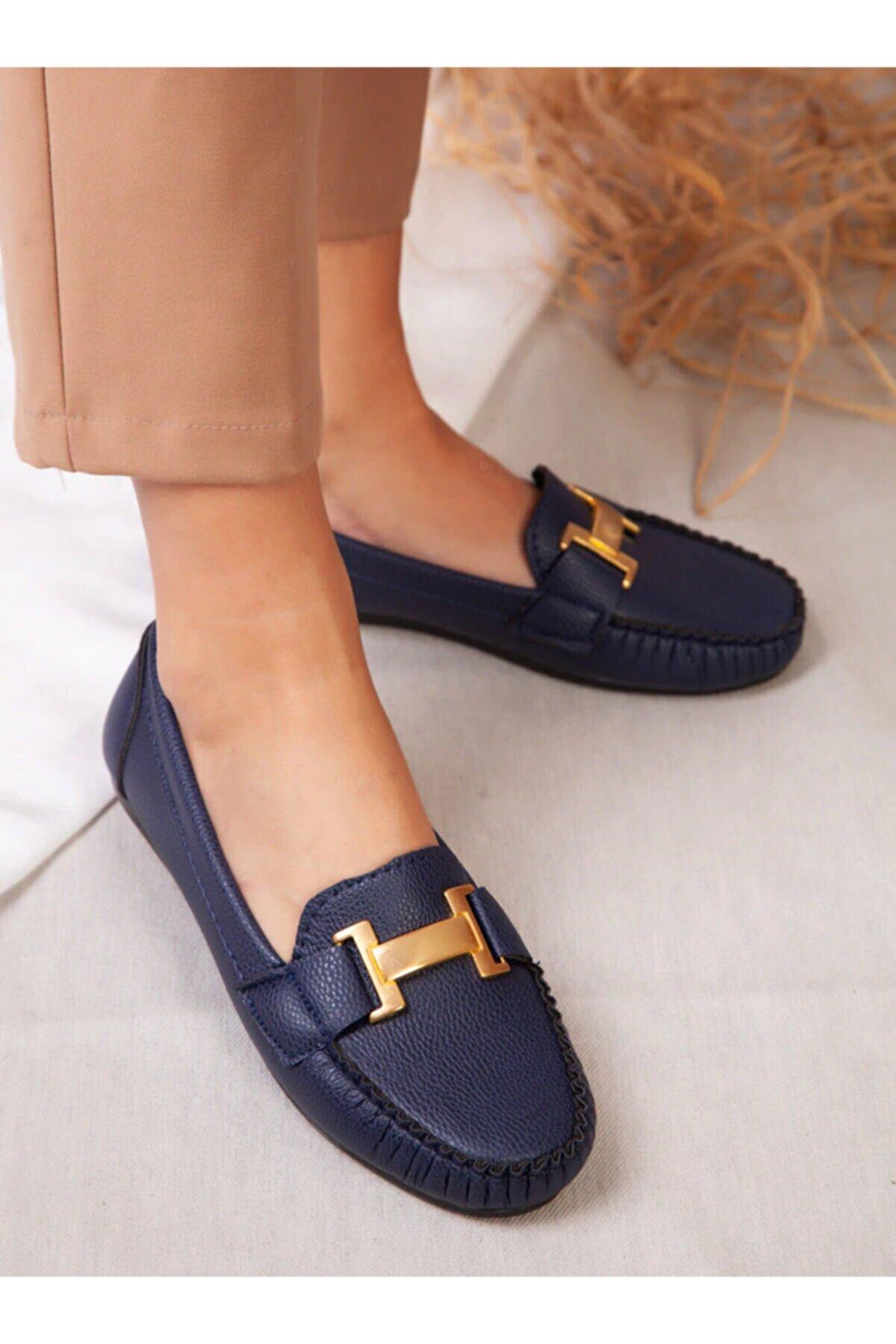 ayakkabıhavuzu Kadın Lacivert Günlük Ayakkabı
