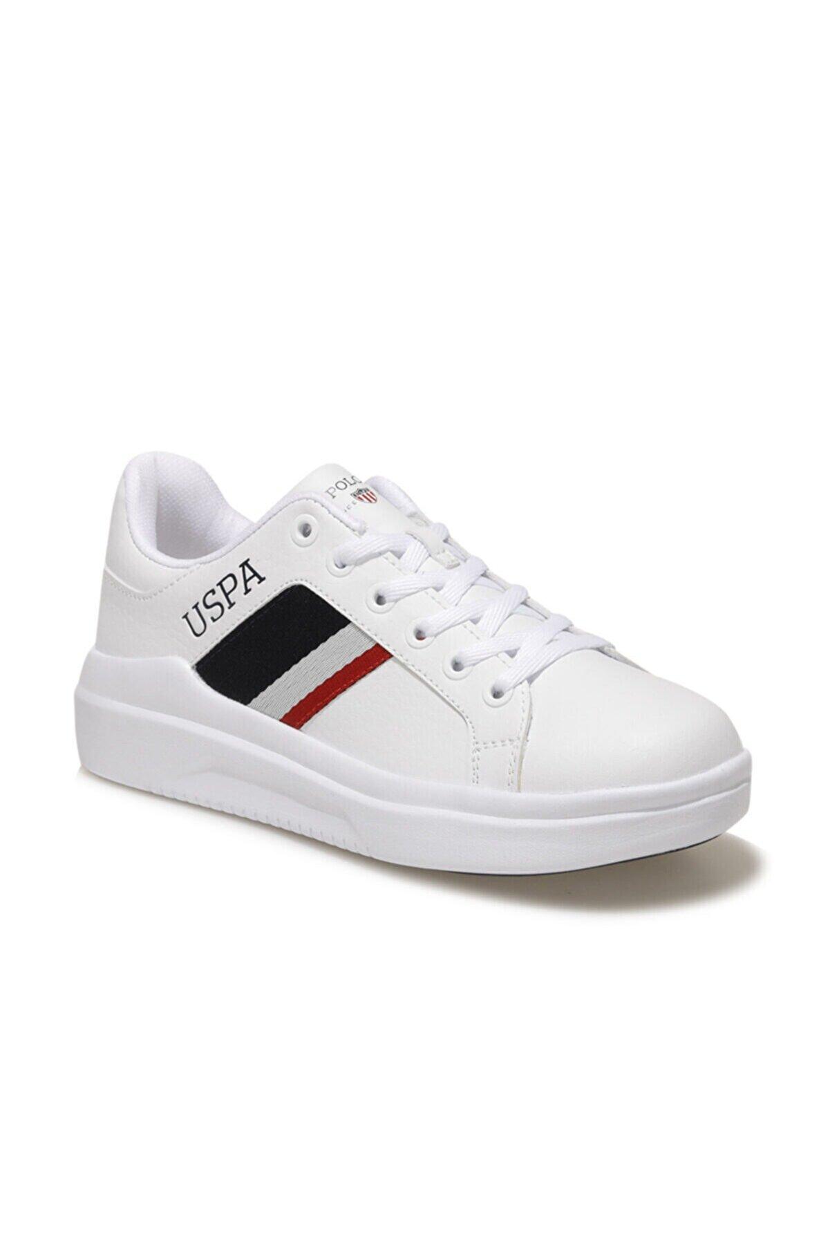 US Polo Assn CAMEL WMN 1FX Beyaz Kadın Sneaker Ayakkabı 100909714