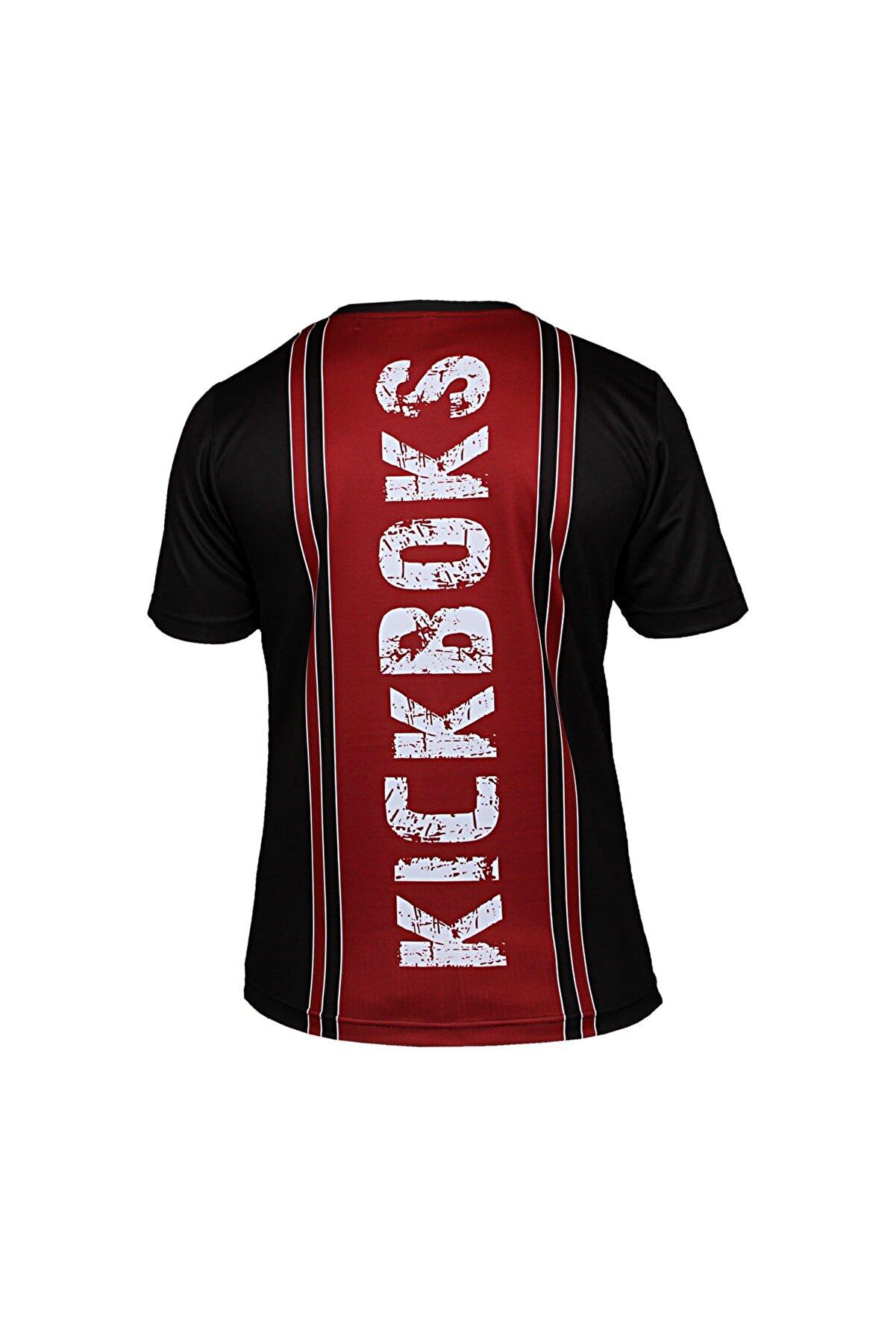 DO-SMAI Unisex Siyah Kick Boks Dijital Baskılı T-shirt Kb001