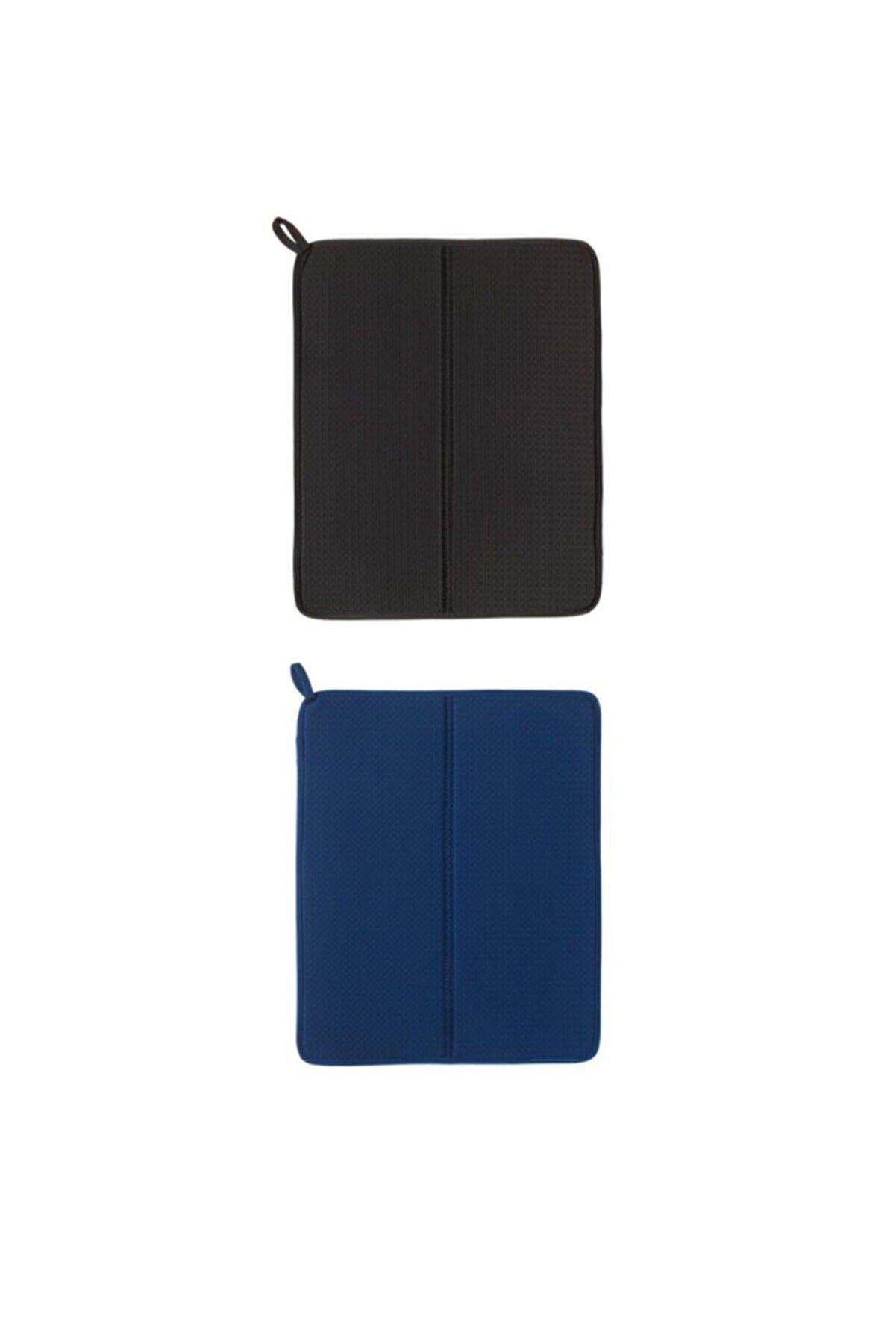 IKEA Nysköljd Bulaşık Kurutma Örtüsü, Koyu Mavi + Koyu Gri 2 Adet