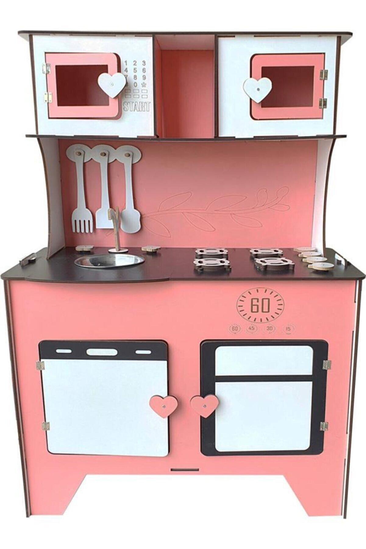WoodyLife Çocuk Ahşap Mutfak Eğitici Evcilik Montessori Oyuncak Dolabı