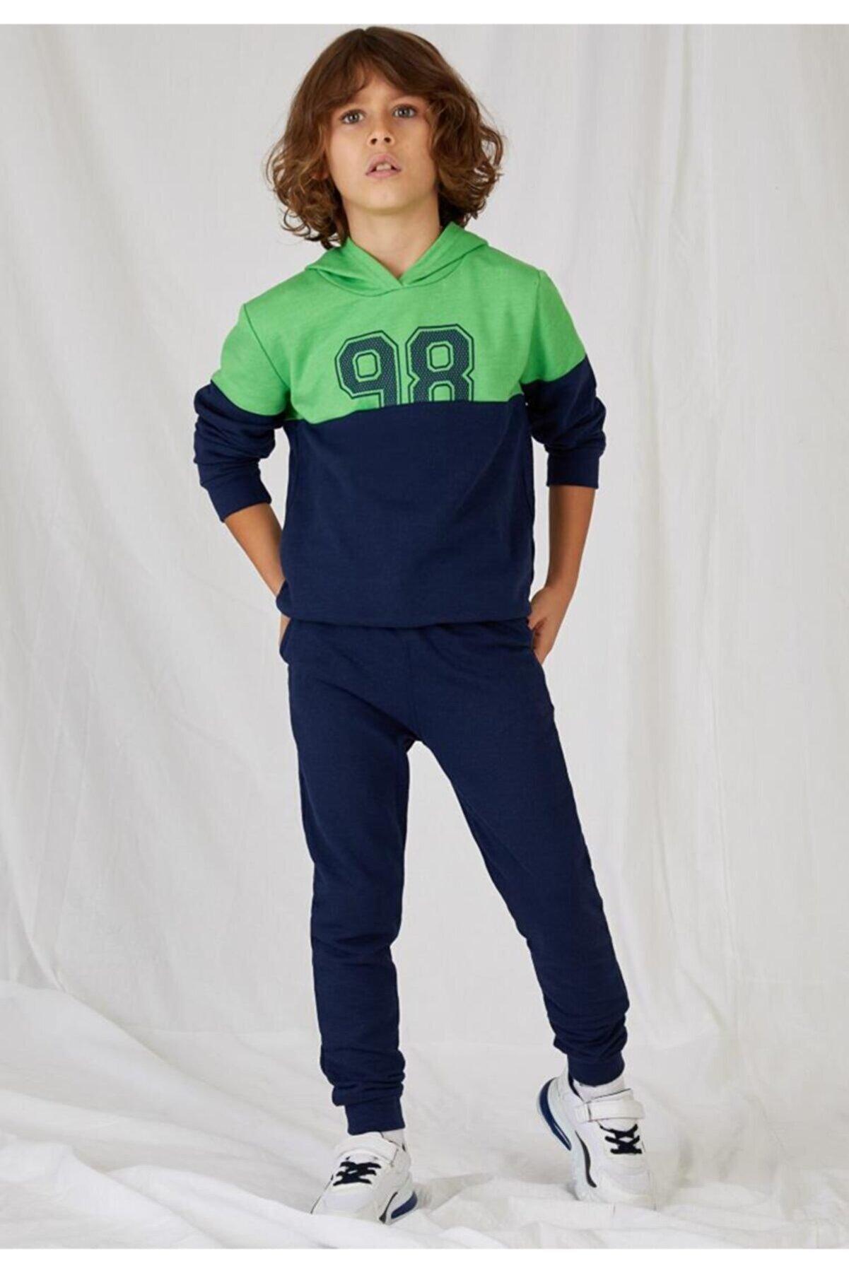 Defacto Erkek Çocuk Baskılı Sweatshirt Ve Eşofman Altı Takım