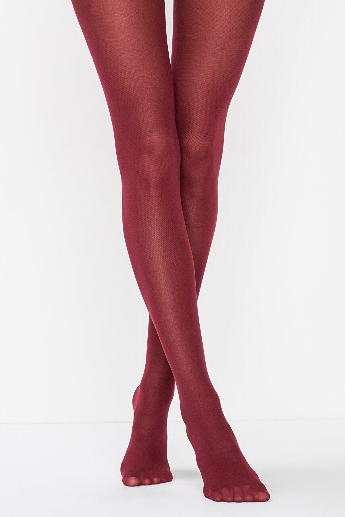 Penti Kadın Bordo Orta Kalın Mat Külotlu Çorap Micro40
