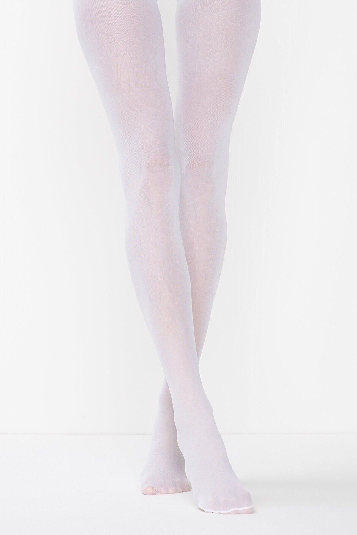 Penti Mikro 40 Beyaz Külotlu Çorap | Pclpp16k15sk-b