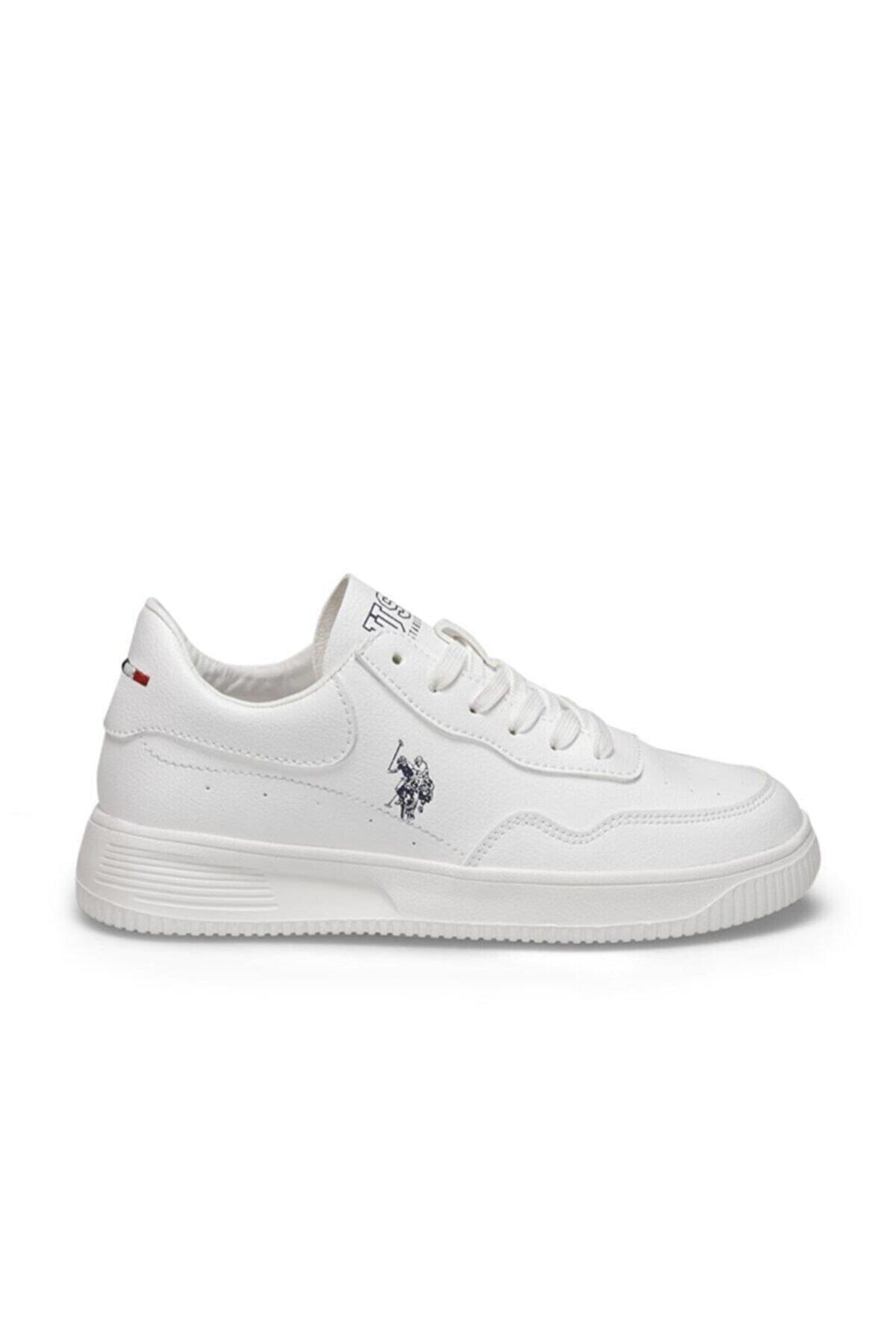 US Polo Assn Unisex Beyaz Abe Casual Confort Günlük Spor Ayakkabısı