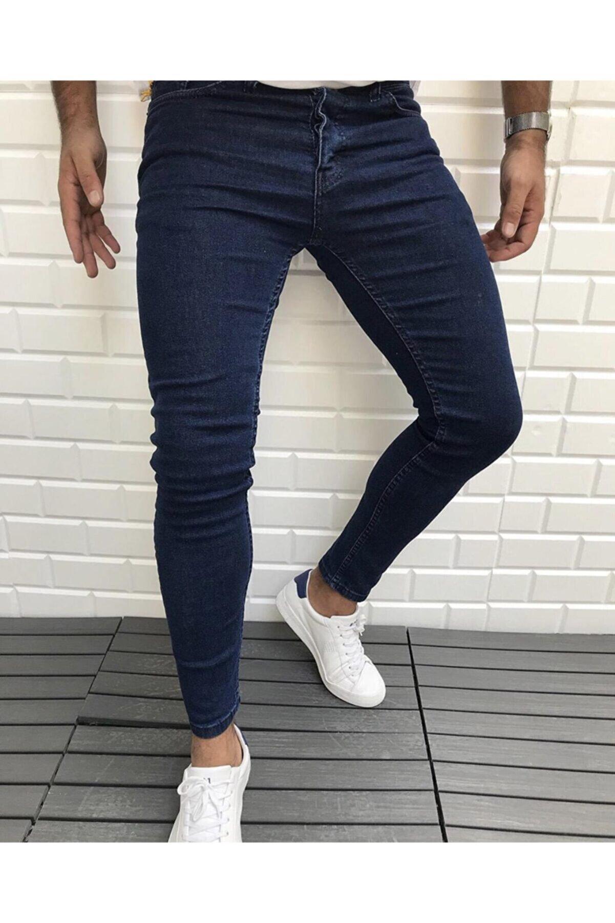 ukdwear Erkek Lacivert Slim Fit Kot Pantolon